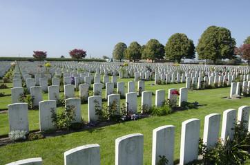 WWI britischer Soldatenfriedhof Poekapelle Flandern Belgien