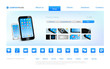 Website concept online store. Touchscreen devices