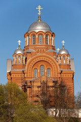 Christian cathedral Nikol'skiy in Pokrovskiy Hot'kov nunnery
