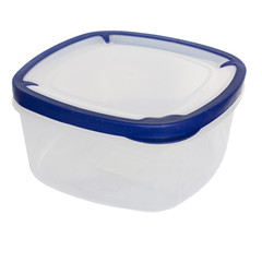 A plastic transparent food container