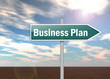 "Signpost ""Business Plan"""