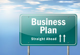 "Highway Signpost ""Business Plan"""