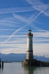 Lighthouse in Lindau port, Germany