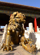 An imperial guardian lion in front of the gate of Heavenly Purit