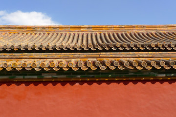 Traditional chinese roof detail
