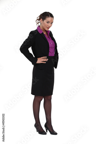 portrait of cute businesswoman