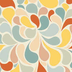 Abstract retro background and seamless vector pattern