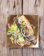 Pan fried trout and green salad