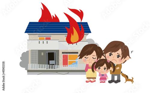火事にあう家