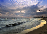 Sunset On A Sea