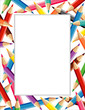 Colored Pencils Frame, copy space for posters, school, education