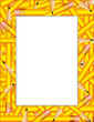 Pencils Frame, copy space for posters, school, education