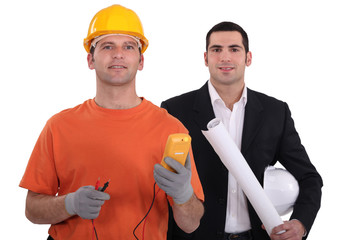 Designer with electrician