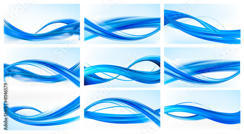 Big set of abstract elegant backgrounds. Vector