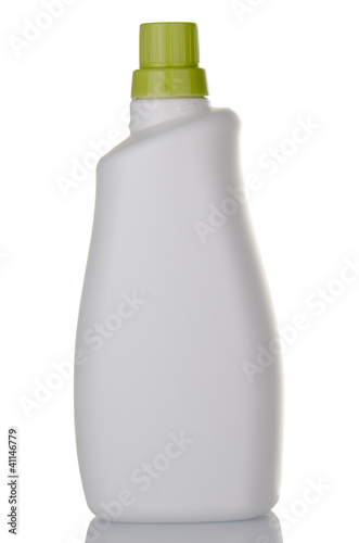 White detergent plastic bottle