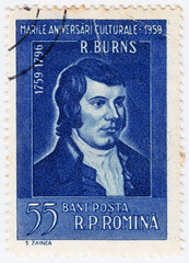 Scots poet Robert Burns