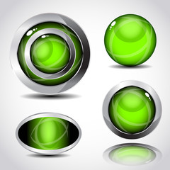 glossy green ball collection