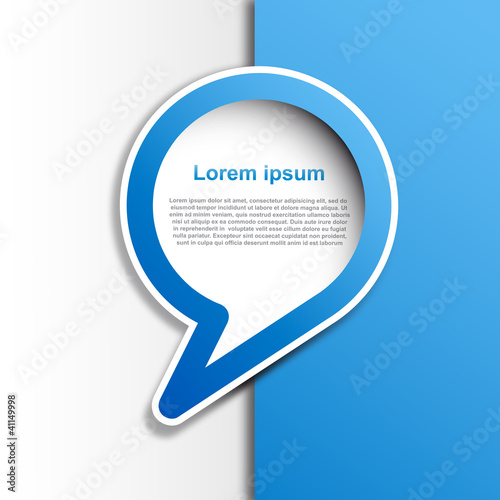 Cover speech in blue # Vector