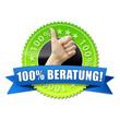 100% Beratung! Button, Icon