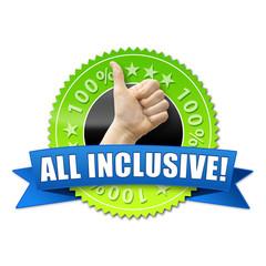All inclusive! Button, Icon
