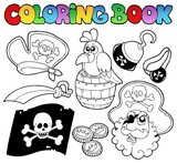 Coloring book with pirate topic 4 - 41151501