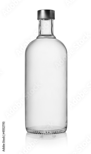 Foto op Canvas Bar Bottle of vodka isolated