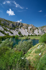 small waterfall on the river Krupa, Croatia