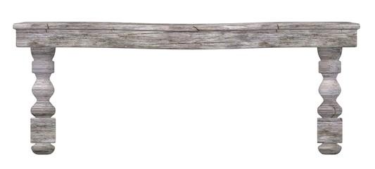 3d render of old bench
