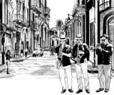 Fototapety jazz band in cuba