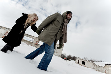 Homeless couple struggle in winter