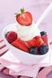 Vanilleeis mit Früchten