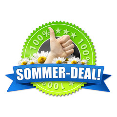 Sommer-Deal! Button, Icon