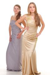 Envy of her friends - two girls in dress