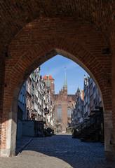 Mariacka Street in Gdansk, Poland.