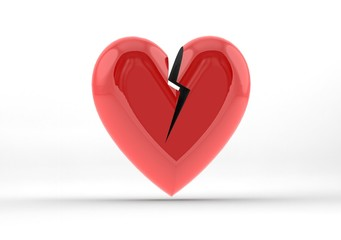 Broken heart shape