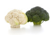 Blumenkohl und Broccoli Köpfe