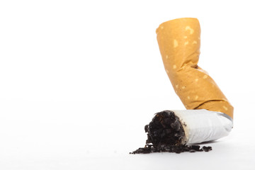 Burned cigarette