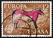 Postage stamp Spain 1975 Horse, Wall Painting from Tito Bustillo