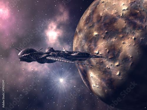Zbliżenie Futurystyczne Spaceship