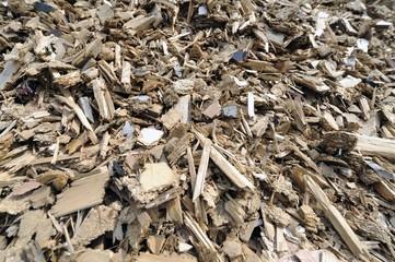 Endprodukt beim Holz-Recycling