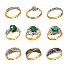 Anneaux de bijoux d'or
