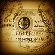 Stamps and visa of Egypt in passport