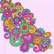 Flower Power Doodles Groovy Psychedelic Vector Design