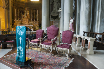 interior of Church in Modena Italy