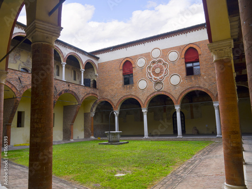 Church Cloister in Ferrara Italy