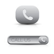 Phone call us icon button grey