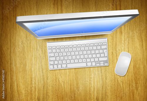overhead modern computer