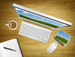 stock photography workstation