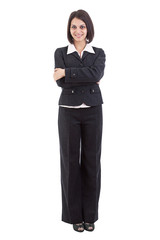 Businesswoman standing with arms crossed