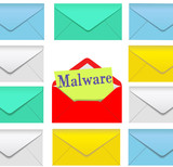 Malware email open envelope security risk